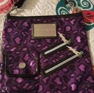 """Betsey Johnson""""Betseyville"""" purple cheetah NWT"""